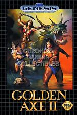 RGC Huge Poster - Golden Axe II Sega Genesis BOX ART - SEG005