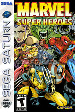 RGC Huge Poster - Marvel Super Heroes Sega Saturn BOX ART - SAT040