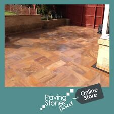 Rainbow paving patio packs -indian Sandstone Slabs Smooth - FREE  Delivery✔