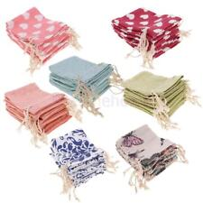 MagiDeal 10Pcs Linen Drawstring Sack Bag Jewelry Pouches Wedding Candy Gift Bag