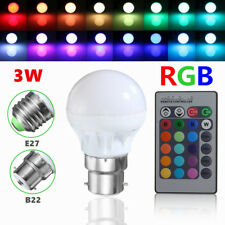 E27 3W Dimmable RGB LED Light Bulb Lamp Color Changing IR Remote Control 85-265V