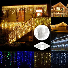 LED Fairy String Lights Party Window Curtain Christmas Icicle Lamps Garden Decor