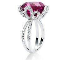Huge 5CT Rose Red Sapphire 925 Silver Jewelry Wedding Engagement Ring Size 6-10