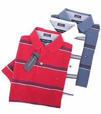 Tommy Hilfiger Men's Short Sleeve Custom Fit Striped Polo Shirt - $0 Free Ship