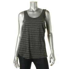 James Perse 4459 Womens Striped Heathered Scoop Neck Tank Top BHFO