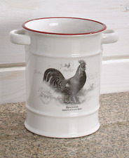 Kitchen Utensil Crock Holder Country Kitchen Decor Farmhouse Cow or Rooster