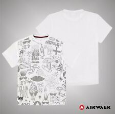Junior Boys Branded Airwalk Large Printed Graphic Panel T Shirt Size Age 7-13