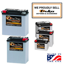 DEKA ETX POWER SPORT AGM BATTERIES FOR HARLEY & OTHERS - STARTING AS LOW AS $58