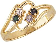 Gorgeous 10K Black Hills Gold 2-6 Genuines Stones Mothers Ring