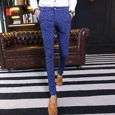 Fashion Mens Slim fit  Straight Skinny Trousers Casual dress Jeans pencil Pants