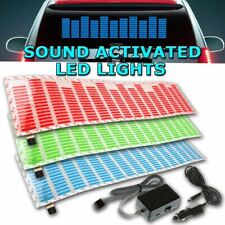 Zone Tech Sound Music Beat Activated Stickers Equalizer LED Light Blue Red Green