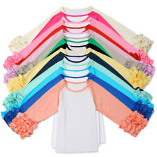 Baby Girls Toddlers T Shirts Kids Icing Ruffles Shirt Tops Casual School Clothes