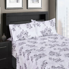 Bally Printed Sheets, 300 TC Sheet,100% Cotton Sateen Weave Floral Bed Sheet Set