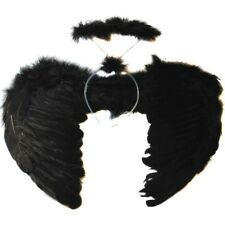 Feather Angel Fairy Wings Wand Halo 3Pcs Set Halloween Party Fancy Dress Costume