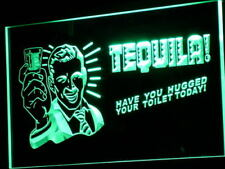 "16""x12"" j004-g TEQUILA Have You Hugged Your Toilet Neon Sign"