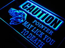 "16""x12"" s184-b Caution Pointer Lick Dog Shop Neon Sign"