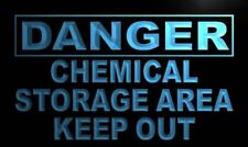 """16""""x12"""" m673-b Danger Chemical Storage Area keep out Neon Sign"""