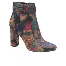 Ravel Brantley Womens Floral Embroidered Zip Fastening High Heeled Ankle Boots