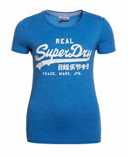 New Womens Superdry Factory Second Vintage Logo Entry T-shirt Blue Marl