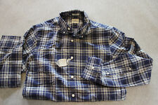 J.Crew JCrew Men navy blue plaid slim fit secret wash heathered shirt Size XS