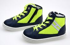 HOGAN REBEL JUNIOR BOY SNEAKER SHOES BLUE/FLUO YELLOW CODE HXT1410I390D5G0YZ0