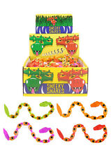 Plastic SNEAKY SNAKES Pinata Toy Loot Children's Party Bag Fillers Favours Prank
