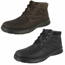 MENS CLARKS GRAIN LEATHER LACE UP CASUAL EVERYDAY ANKLE BOOTS SHOES COTRELL RISE