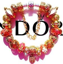 PANDORA Sterling Silver CHARM Bracelet CORAL REEF with Gold Plated Beads CC70