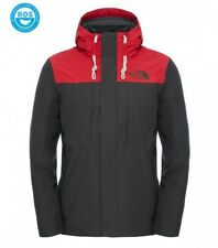 The North Face Men's Winter Jacket Himalayan Black Ink Green/Tnf Red