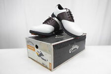 Callaway Mens Golf Shoe - XTT GRAND SLAM - White Brown - M138 - FREE SHIPPING