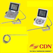 DTTC-s,DTTC-w,AD-DTTC Digital Probe Thermometer,Timer,Clock by CDN.Leave in oven