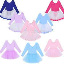 Girls Gymnastics Ballet Dresses Toddler Kids Leotard Unitard Dancewear Clothing