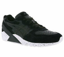 Asics Gel-Sight Men's Shoes REAL LEATHER SNEAKER TRAINERS BLACK h708l 9090