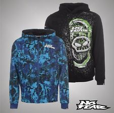 Mens Branded No Fear Lightweight All Over Print Hoody Full Zip Top Size S-XXL