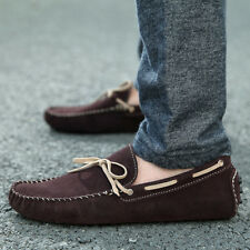 Genuine Suede Non-Slip Genuine Suede Comfy Mens Oxfords Moccasins Driving Shoes