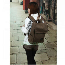Men Women Vintage Canvas Travel School Knapsack Rucksack Backpack Sport Bag Pack
