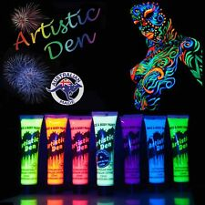 7 x 15ml  UV Glow Neon Face Body Paint Black Light Fluro Party Glow in Dark +