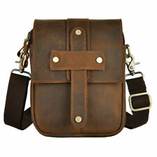 Men Crazy Horse Genuine Leather Shoulder Bag Belt Waist Fanny Pack Phone Bag New