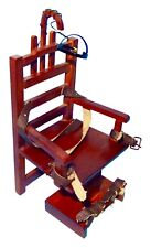 """Old Sparky"" Dollhouse Miniature Wooden Electric Chair 1:12 Scale"