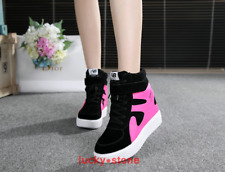 2017 HOT Fashion Women's Lace Up Hidden Wedge High Top Sneakers Athletic Shoes