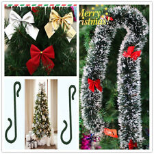 Christmas Tree Hanging Decoration Hook Tinsel Bell Ornaments Xmas Party Festival