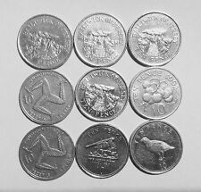 10 pence coins from Gibraltar, Isle of man, Jersey, and Guernsey