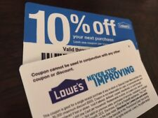 6 Lowes 10%-Off-Coupons Blue Cards Works at any Lowes