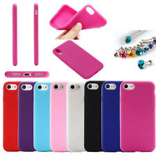 Slim Candy Color Soft Silicone Rubber TPU Case Cover For Apple iPhone Series