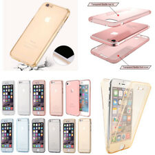 Ultra Thin Clear Gel Case Cover For iPhone 5 5S 6 6S 7 8 Plus 360° Protection