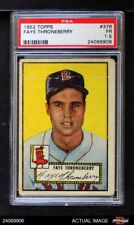 1952 Topps #376 Faye Throneberry Red Sox PSA 1.5 - FAIR