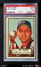 1952 Topps #383 Del Wilber Red Sox PSA 3.5 - VG+