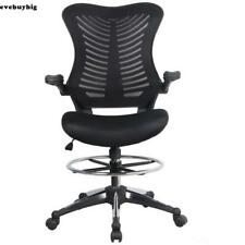Ergonomic Adjustable Drafting Reception Office Stool-Chair with Armrests E45B