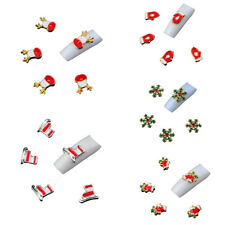 20Pcs 3D Christmas Alloy Jewelry Nail Art Tips DIY Decorations Accessories