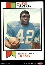 1973 Topps #448 Altie Taylor Lions EX